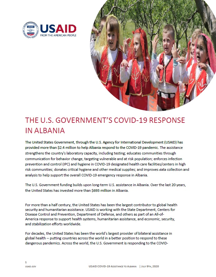 U.S. Government's COVID-19 Response in Albania