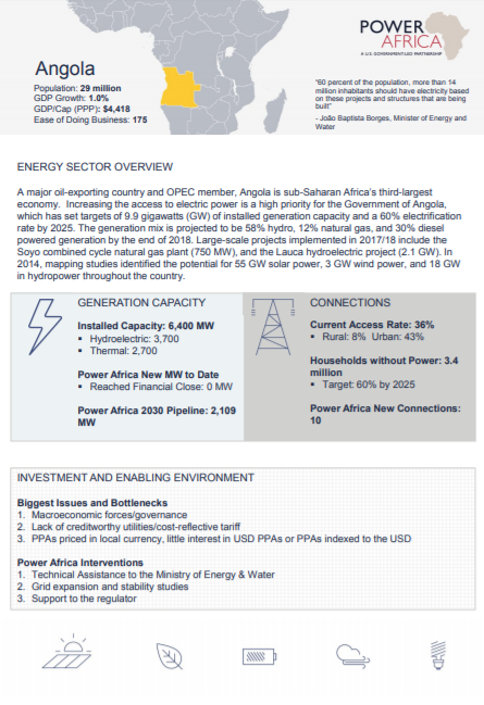 Power Africa Angola Fact Sheet