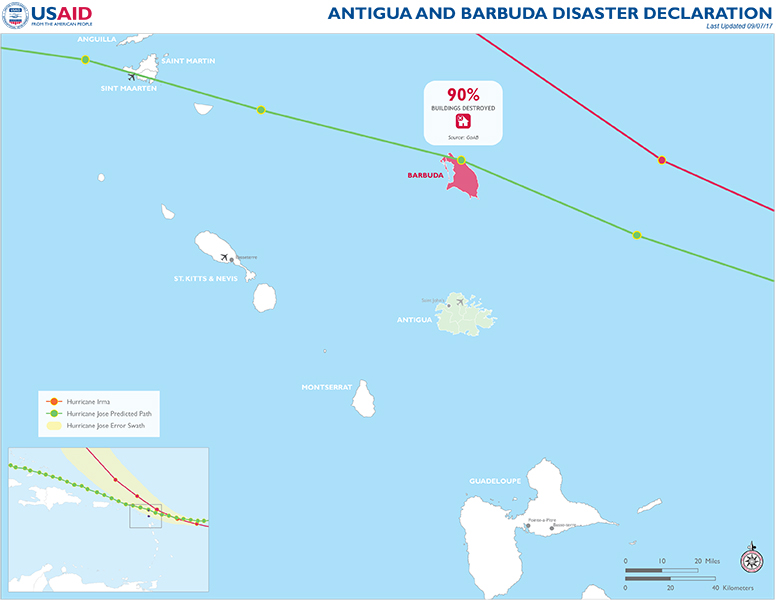 Antigua And Barbuda Disaster Assistance US Agency For - Antigua and barbuda map