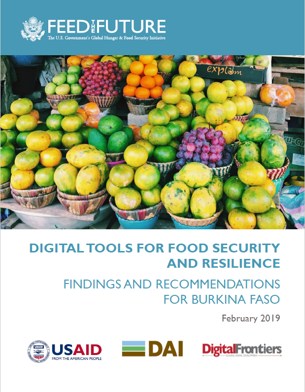 Digitaltools for Food Security and Resilience: Findings and Recommendations for Burkina Faso