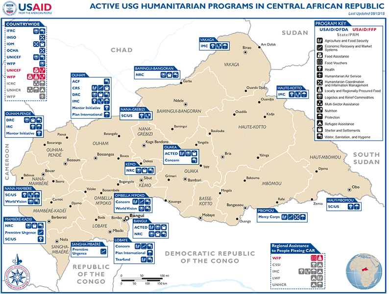 Central African Map - 08-13-2015
