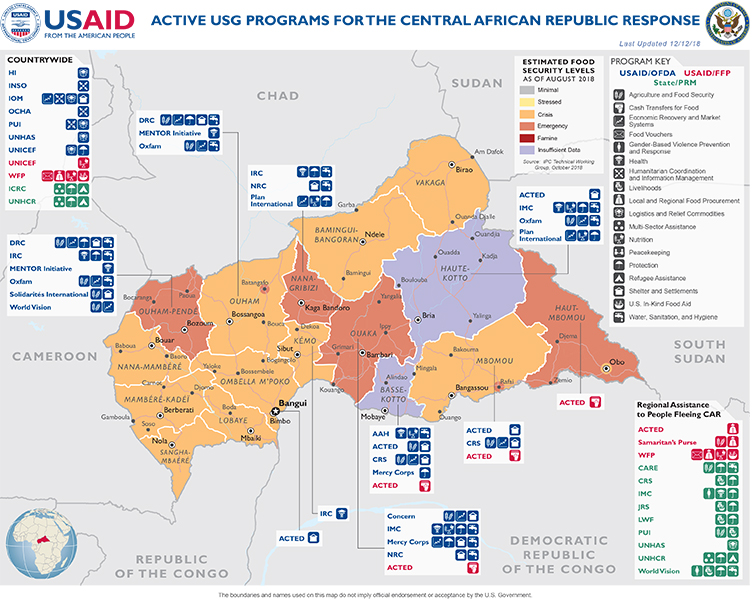 Central African Republic Crises Response U S Agency For