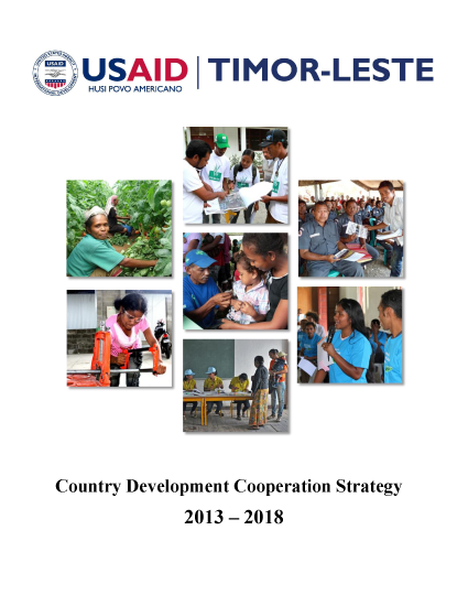 Timor Leste Country Development Cooperation Strategy 2013 – 2018