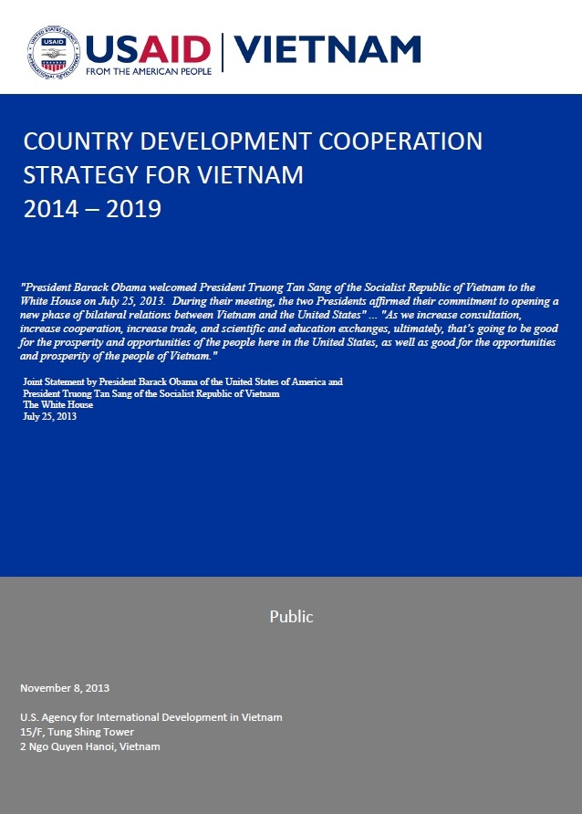 Country Development Cooperation Strategy for Vietnam (2014 - 2019)