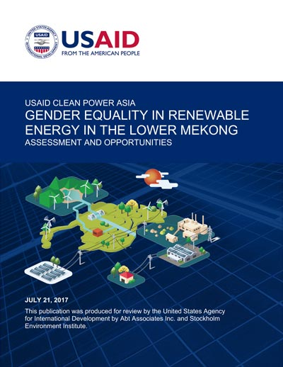 Gender Equality in Renewable Energy in the Lower Mekong