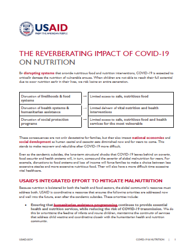 The Reverberating Impact of COVID-19 on Nutrition