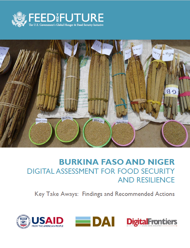 Burkina Faso and Niger Digital Assessment for Food Security and Resilience