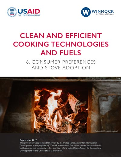 Clean and Efficient Cooking Technologies and Fuels: Consumer Preferences and Stove Adoption