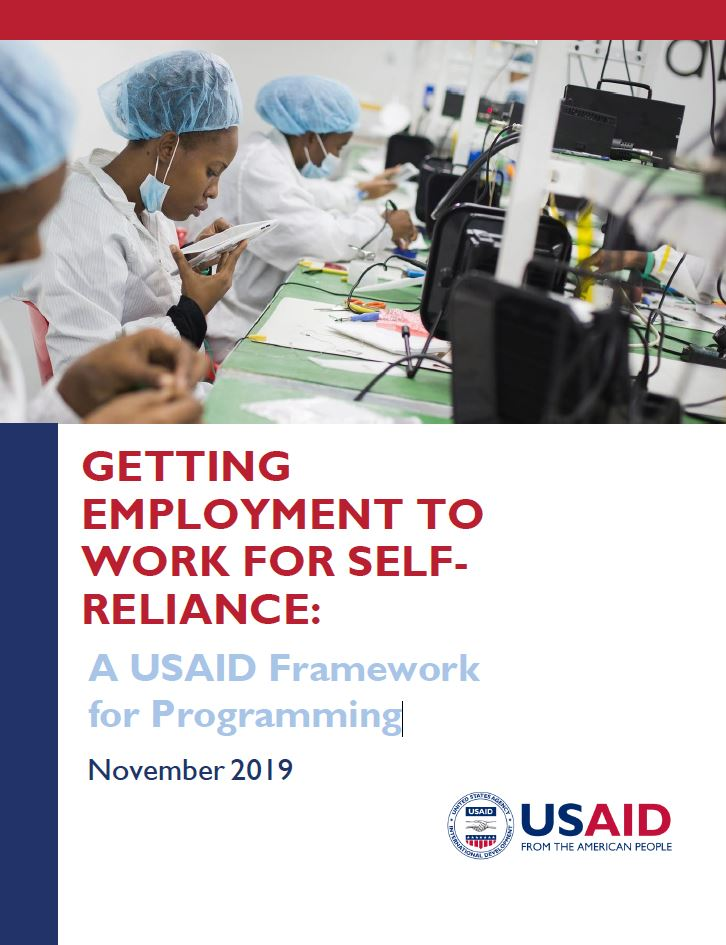 Getting Employment to Work for Self-Reliance: A USAID Framework for Programming