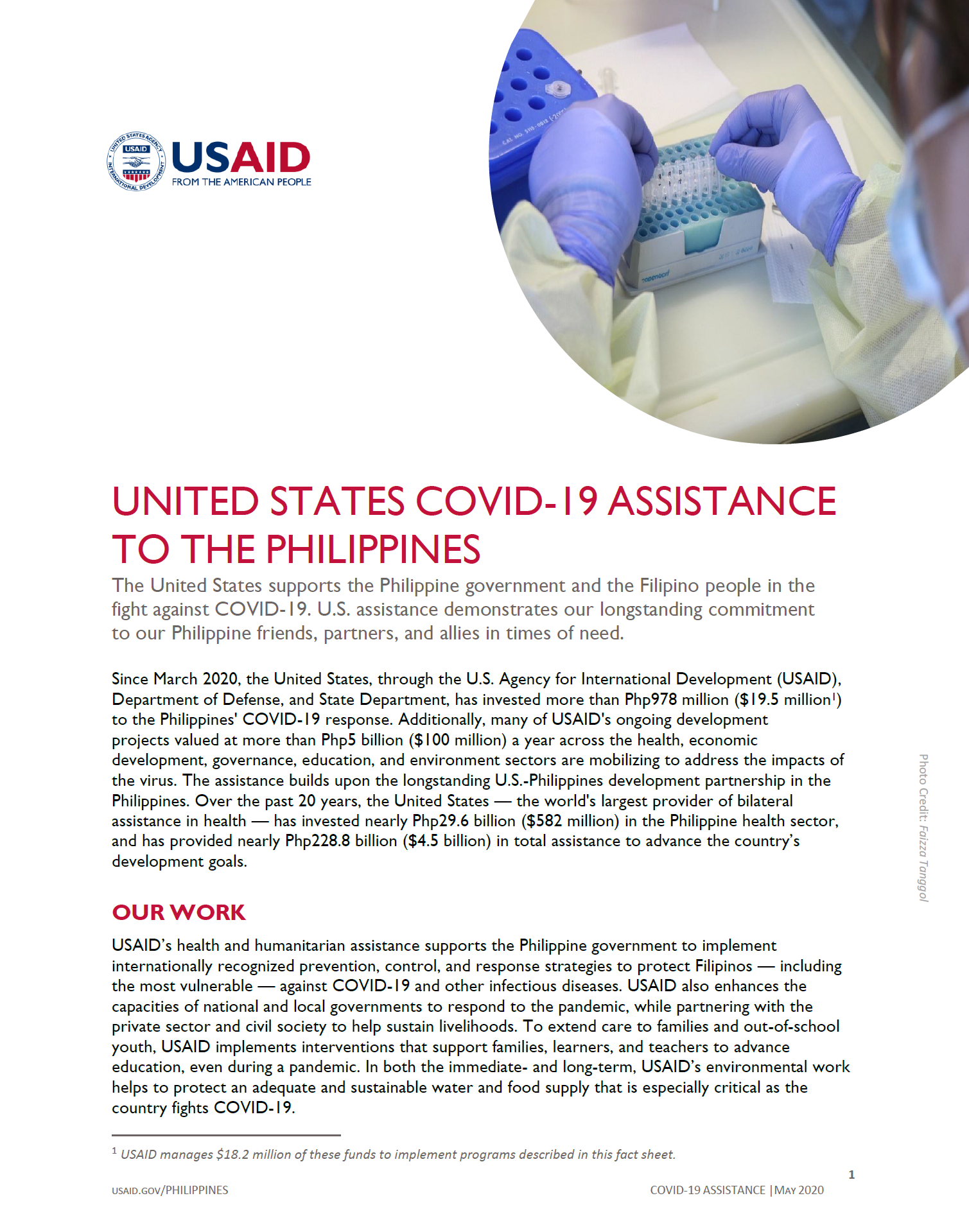 United States COVID-19 Assistance to the Philippines