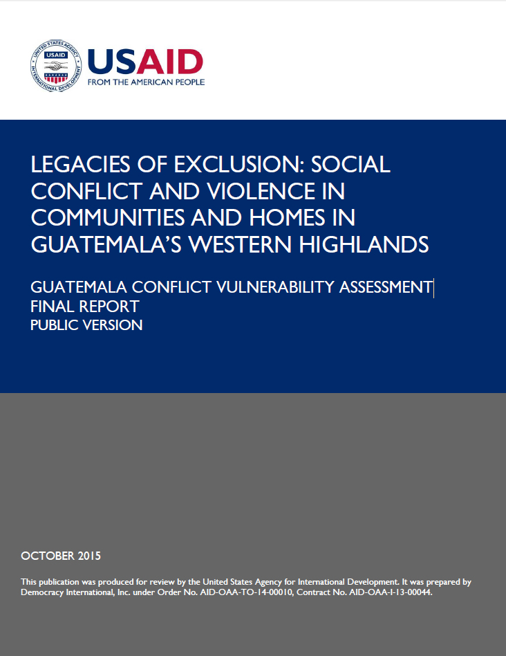 Guatemala Conflict Vulnerability Assessment