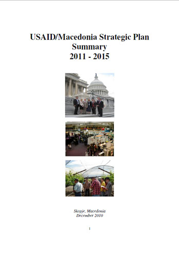 Cover USAID Macedonia Strategic Plan Summary 2011 - 2015