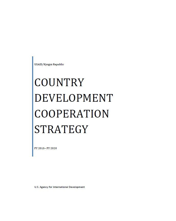 Kyrgyz Republic: Country Development Cooperation Strategy 2015-2020