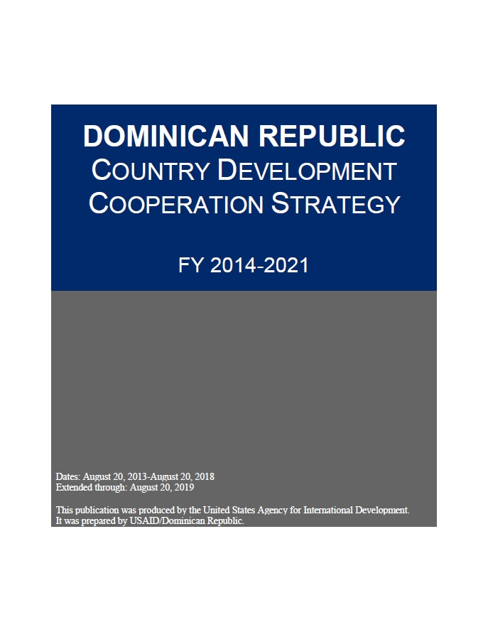 Dominican Republic Country Development Cooperation Strategy
