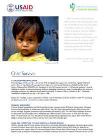 Child Survival Fact Sheet