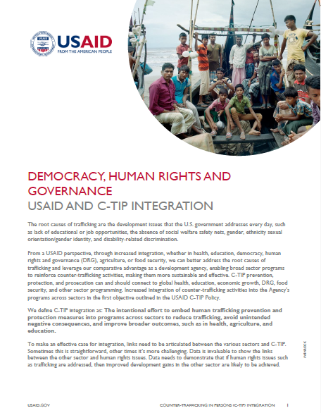 USAID One-Pagers on Integration on C-TIP in Other Sectors