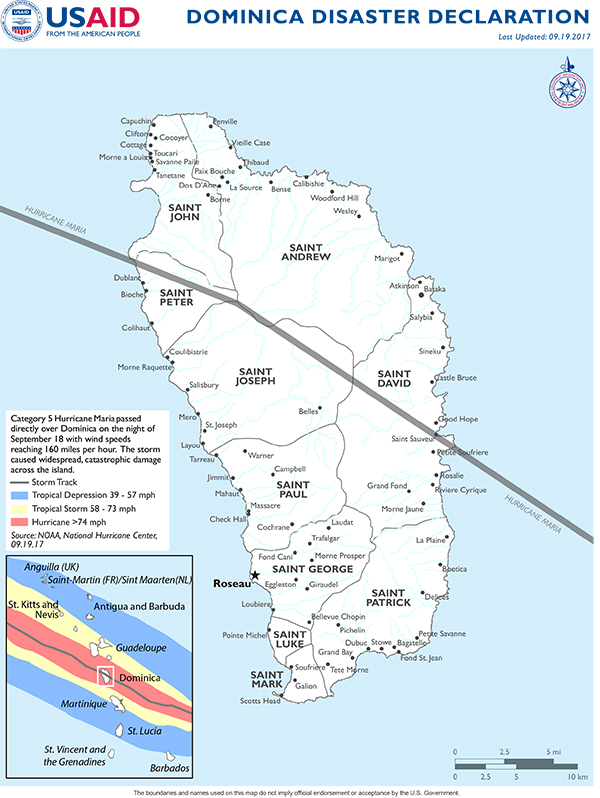 Dominica Crisis US Agency For International Development - Dominica map hd pdf