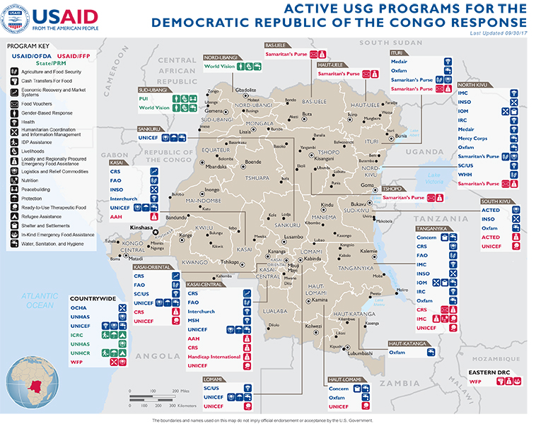 Democratic Republic Of The Congo US Agency For International - Democratic republic congo map