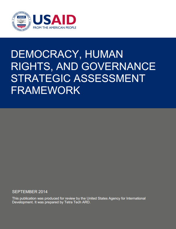 Democracy, Human Rights and Governance Strategic Assessment Framework