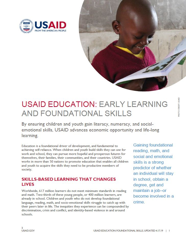Early Learning and Foundational Skills | U S  Agency for