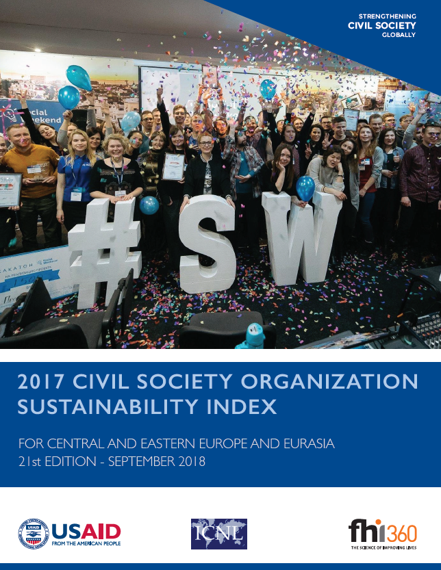 2017 Civil Society Organization (CSO) Sustainability Index for Central and Eastern Europe and Eurasia