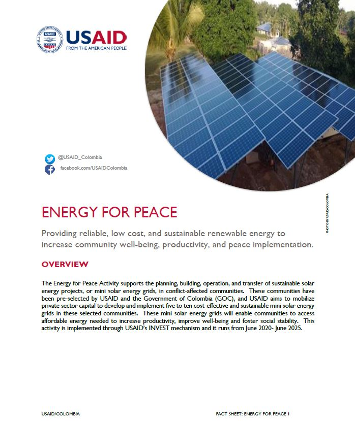 Energy For Peace Fact Sheet