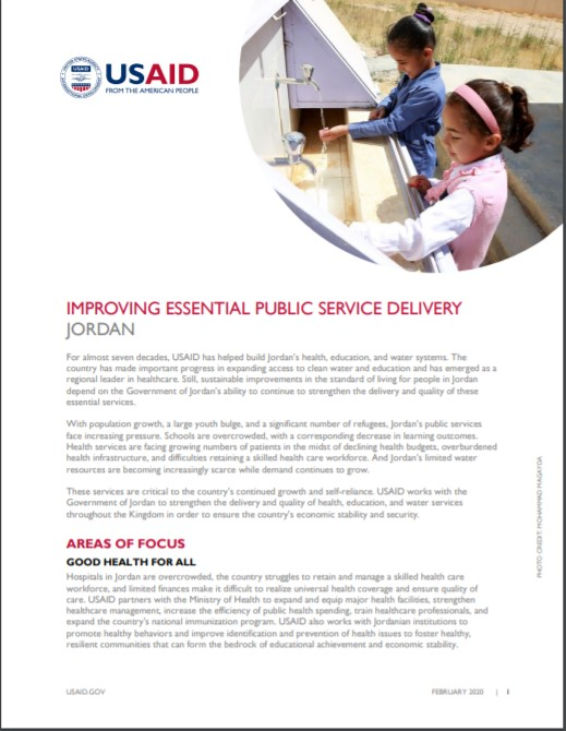 Fact Sheet: Improving Essential Public Service Delivery