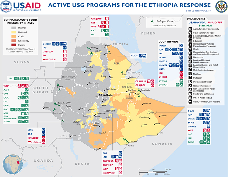 Crisis In Ethiopia Complex Emergency U S Agency For