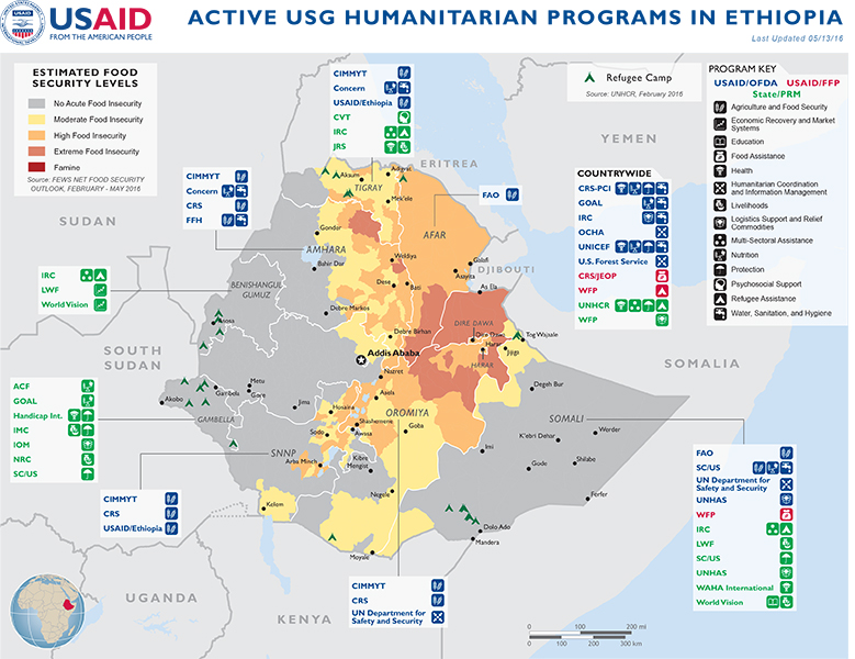 Ethiopia complex emergency fact sheet 10 fy2016 may 13 2016 ethiopia map 05 13 2016 gumiabroncs Images