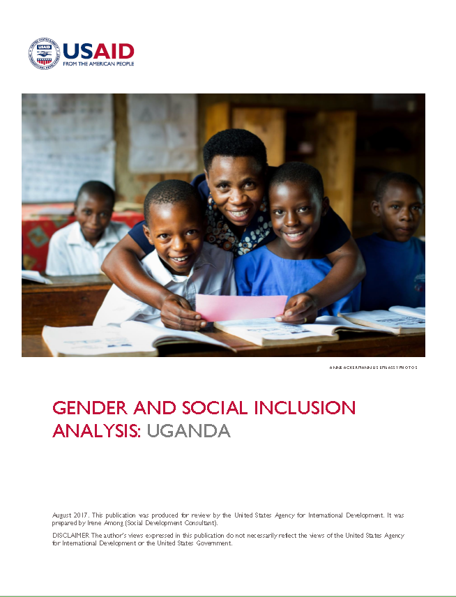 Gender and Social Inclusion Analysis: Uganda | U S  Agency