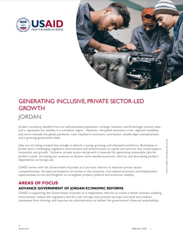 Generating Inclusive, Private Sector-Led Growth