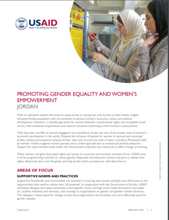 Promoting Gender Equality and Women's Empowerment