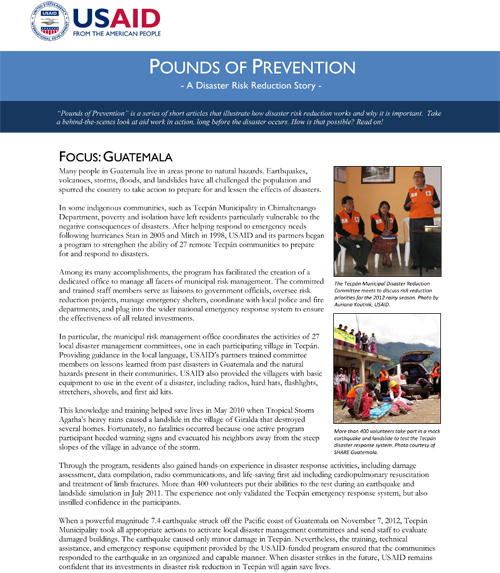 Pounds of Prevention - Guatemala