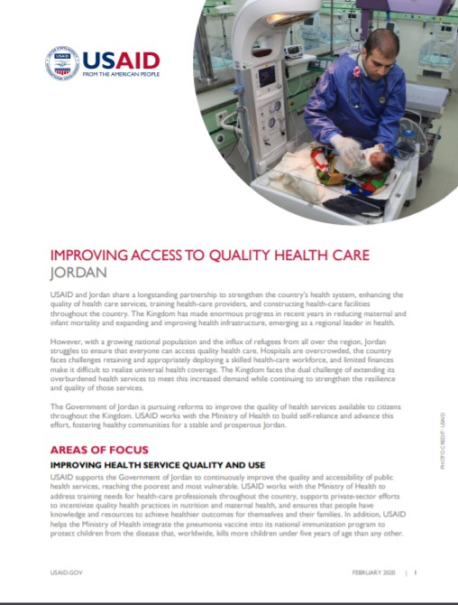 Fact Sheet: Improving Access to Quality Health Care