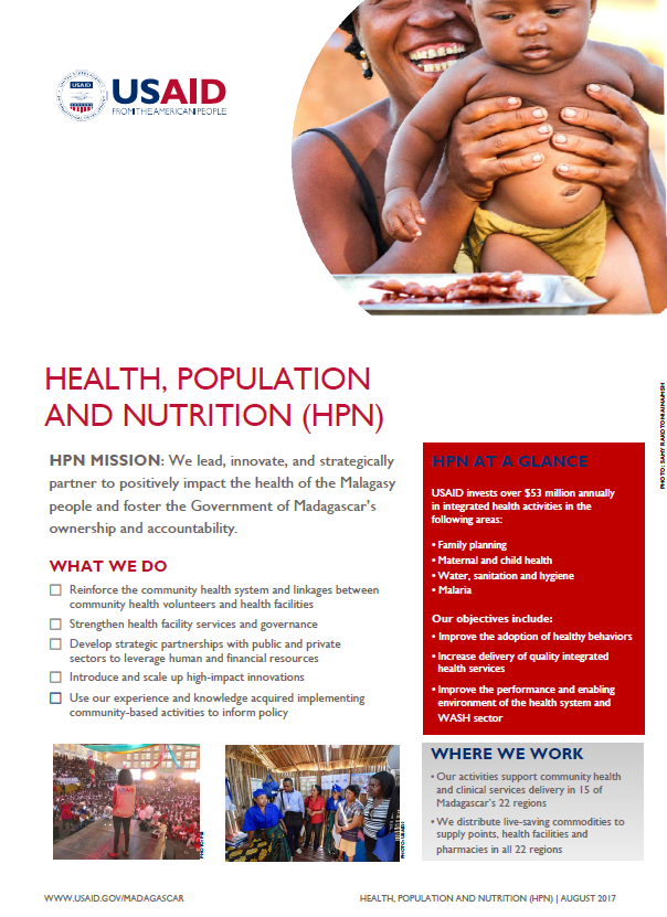 Madagascar Health, Nutrition and Population (HPN) Factsheet