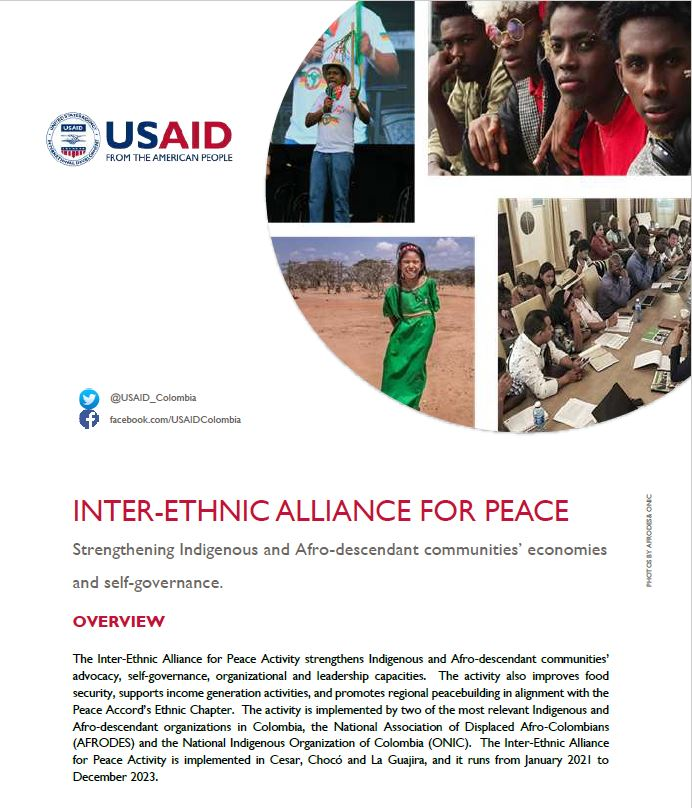 Inter-Ethnic Alliance for Peace Activity Fact Sheet