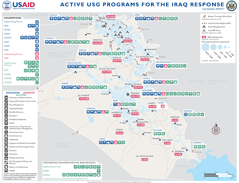 Iraq Disaster Assistance US Agency For International Development - Us foreign aid map