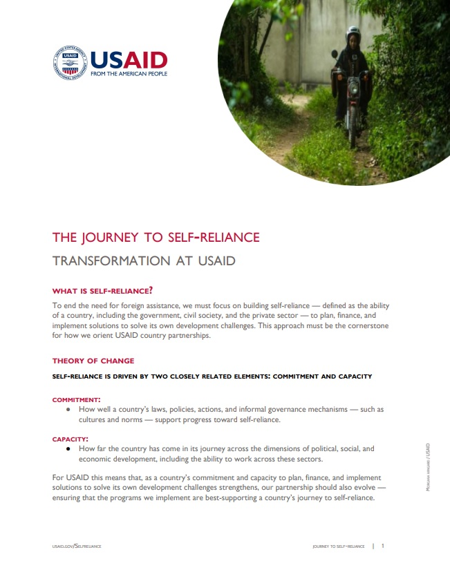 Fact Sheet: The Journey to Self-Reliance Overview