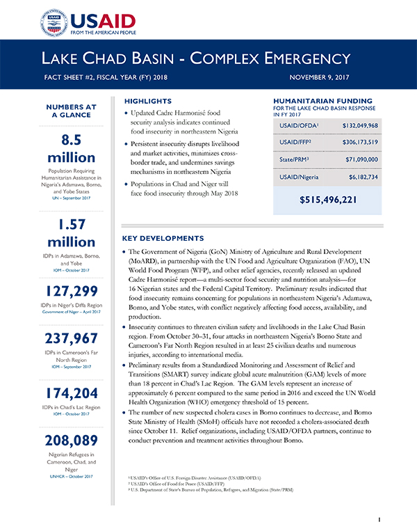 Lake Chad Basin Complex Emergency Fact Sheet #2