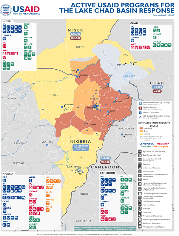 Lake Chad Basin Disaster Assistance US Agency For - Chad map
