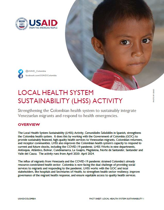 Local Health System Sustainability (LHSS) Activity Fact Sheet