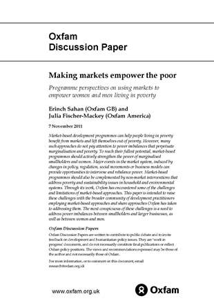 Making Markets Empower the Poor