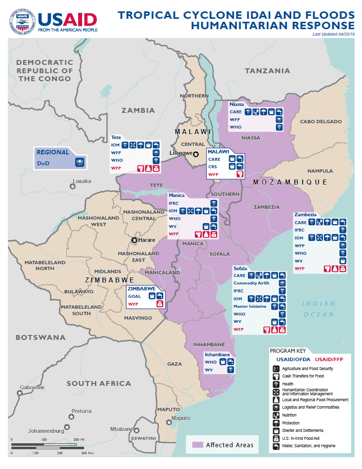 Southern Africa - Tropical Cyclone Idai - Map #9 FY2019