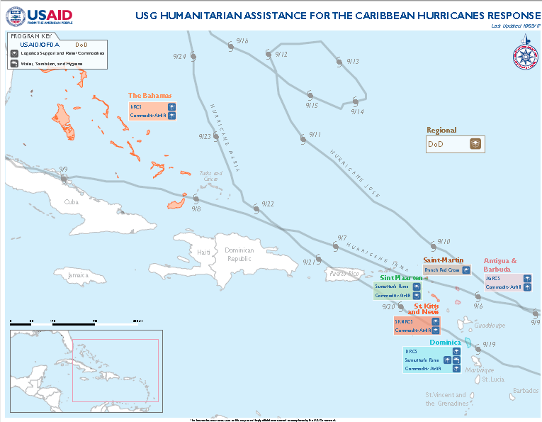 Caribbean Hurricanes - Map #1
