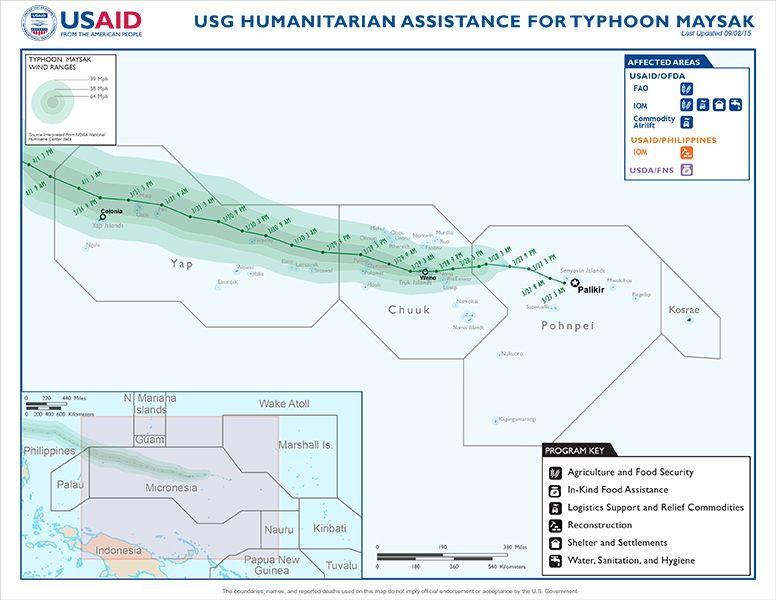 Micronesia Federated States Of Disaster Assistance US - Micronesia interactive map