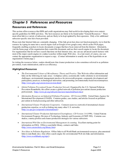 MSE Resources (2006)