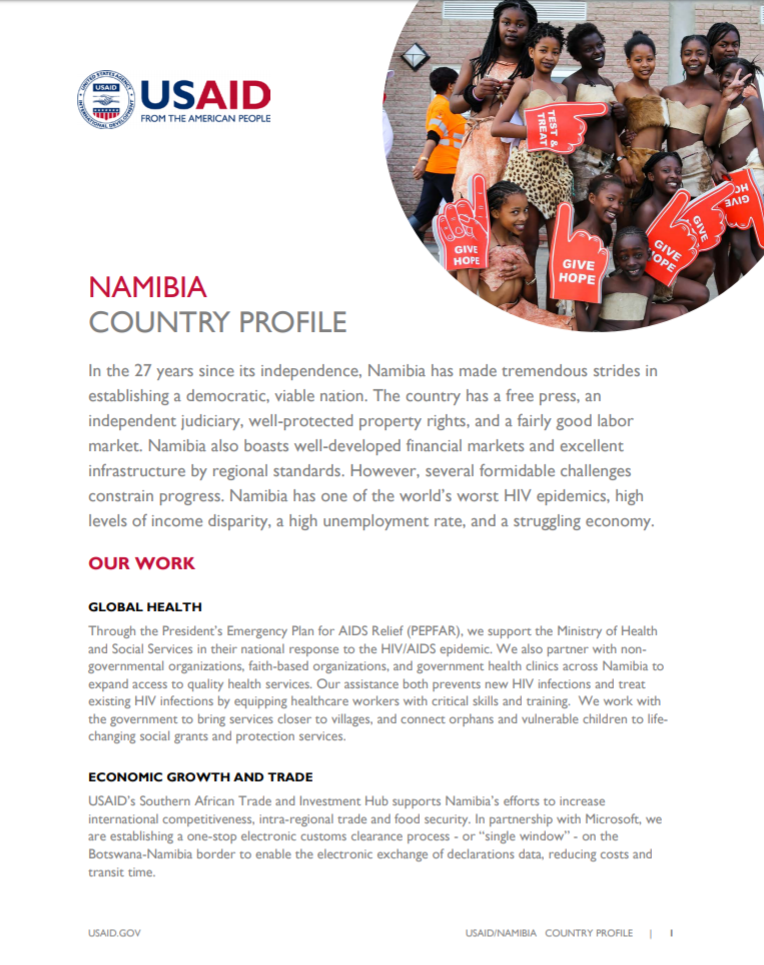 Namibia Country Profile
