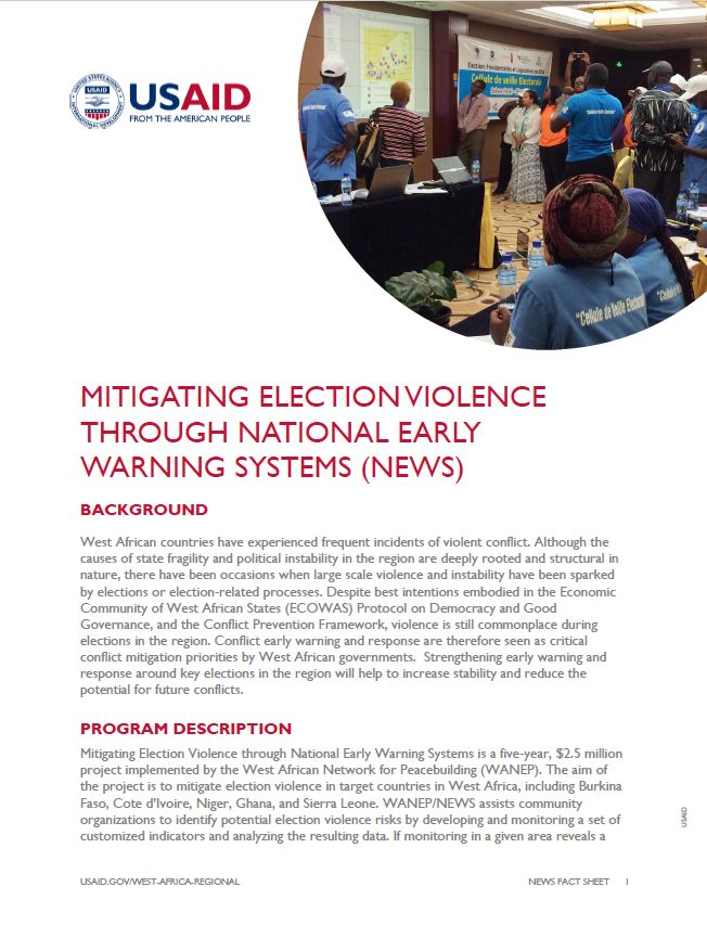 Mitigating Election Violence through National Early Warning Systems (NEWS)