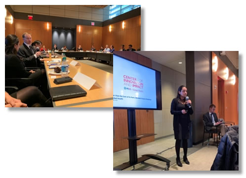 Two photographs from the Blended Finance Event.