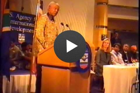 Video: Nelson Mandela Announces USAID-South Africa AIDS Partnership in 2000